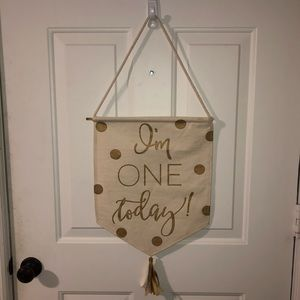 I'm One Today Mud Pie Canvas Banner